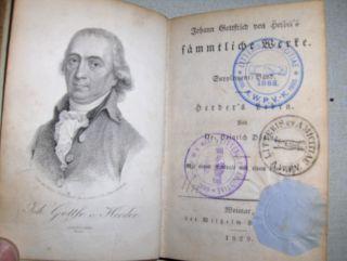 Herder, Johann Gottfried von und Dr. Heinrich Döring: Herder`s Leben. Mit einem Portrait und einem Facsimile #.