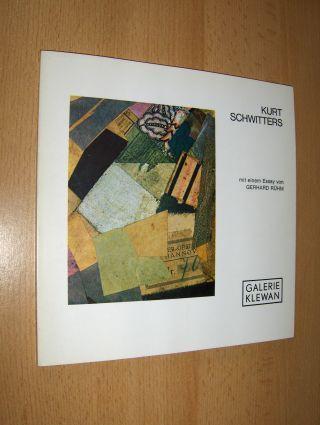 Rühm (Essay), Gerhard: KURT SCHWITTERS 12 COLLAGEN - KÜNSTLER DER GALERIE: ATTERSEE - G. BRUS - H. NITSCH - A. RAINER - D. ROT - G. RÜHM *. GALERIE KLEWAN - EDITIONEN.