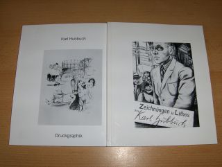 Hasenclever, Michael und Eva Karcher (Beitrag): Karl Hubbuch. Zeichnungen Skizzen u. Lithos - Druckgraphik *. 2 Bände.