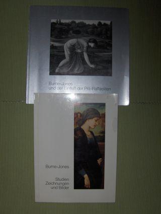 KONVOLUT : Burne-Jones und der Einfluß der Prä-Raffaeliten / Burne-Jones Studien Zeichnungen und Bilder *.