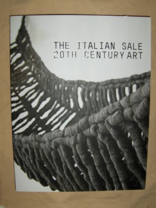 CHRISTIE`S THE ITALIAN SALE 20TH CENTURY ART Monday 20 October 2008 *.