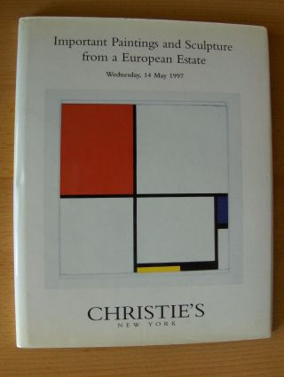 CHRISTIE`S - Important Paintings and Sculpture from a European Estate. New York, Wednesday, 14 May 1997.