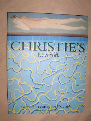 CHRISTIE`S Twentieth Century Art (Day Sale) *. New York, 10 May 2000.