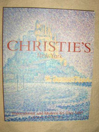 CHRISTIE`S IMPRESSIONIST AND MODERN ART (Day Sale) *. New York, 7 November 2001.