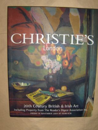CHRISTIE`S 20th Century British & Irish Art - Including Property from The Reader`s Digest Asociation Inc.*. London, 19 November 2004 AT 10.00 A.M.