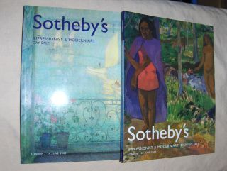 SOTHEBY`S IMPRESSIONIST AND MODERN ART . EVENING SALE - DAY SALE - 2 Bände *. London, 23 / 24 June 2003.