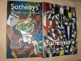 SOTHEBY`S IMPRESSIONIST AND MODERN ART EVENING SALE / IMPRESSIONIST & MODERN ART DAY SALE. 2 Bände *. London, 8 / 9 February 2005.