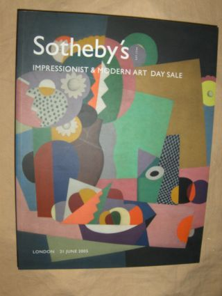 SOTHEBY`S IMPRESSIONIST AND MODERN ART DAY SALE *. London, 21 June 2005.