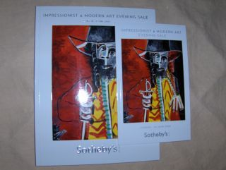 SOTHEBY`S IMPRESSIONIST AND MODERN ART EVENING SALE *. London, 24 June 2009.