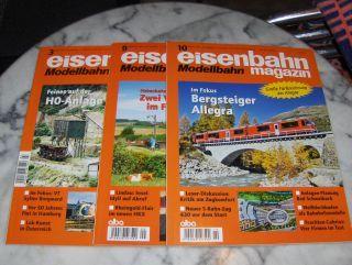 Teloeken (Verleger), Alf: eisenbahn magazin Modellbahn. 3 versch. Exemplare oder Hefte *. Deutschsprachige Monats-Zeitschrift für alle Freunde der Eisenbahn und Modellbahn.