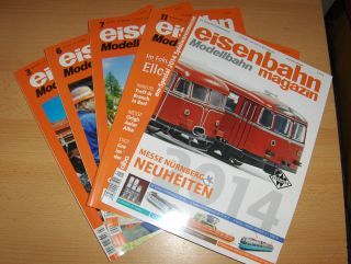 Teloeken (Verleger), Alf: eisenbahn magazin Modellbahn. 5 versch. Exemplare oder Hefte dav. 1 Spezial *. (Deutschsprachige Monats-Zeitschrift für alle Freunde der Eisenbahn und Modellbahn).