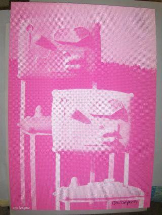 Dressler, Otto: OTTO DRESSLER * - ORIG.-FARBSERIGRAPHIE MIT BLEISTIFT HANDSIGN. u. DATIERT 69. (Rosa Pointillismus nach Fotos v. Skulpturen auf Stühle im Stil Roy Lichtenstein...). 0