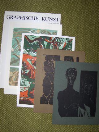 Visel (Hrsg.), Curt: GRAPHISCHE KUNST. Heft 44 / 1. Heft 1995. Ausgabe C - Nr. 240 v. insges. 1000.