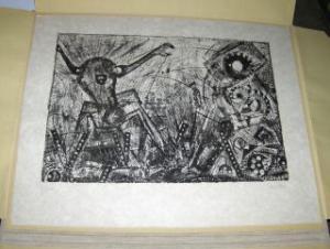 """Verlon (Willy Verkauf) *, Andre: ANDRE VERLON (WILLY VERKAUF) * - ORIGINAL- LITHOGRAPHIE auf Japanpapier (Japon) mit Bleistift links numeriert u. rechts signiert. : """"LE BUT UNIQUE DE LA SCIENCE CONSISTE A RENDRE PLUS LEGER LE POIDS DE FATIGUE DE LA V"""