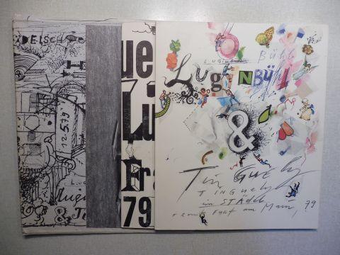 Gallwitz (Hrsg.), Klaus, Jean Tinguely Leonhard u. Brutus Luginbühl u. a.: Jean Tinguely und Leonhard Luginbühl im Städel 79. 2 Bände (Broschüre) + Beilag im OIll.-Mappe *.