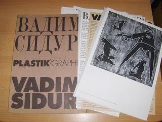 Tarnowsky, Dr. W. und Prof. Dr. Karl Eimermacher: VADIM SIDUR - PLASTIK/GRAPHIK *. Deutsch/Russisch.