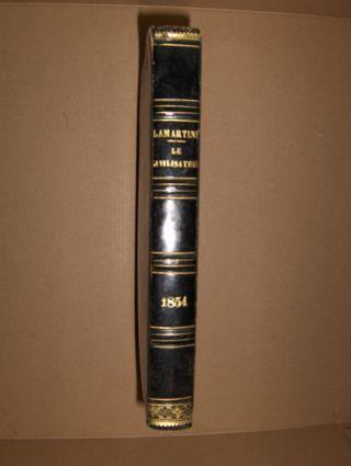 Lamartine *, M. de: Le Civilisateur. Histoire de l' Humanite par les grands Hommes. Troisieme Annee. Cromwell - Guillaume Tell - Bossuet - Milton - Antar - Mad. de Sevigne. 0