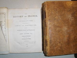 Gifford, Esq., John: THE HISTORY OF FRANCE * From the Earliest Times, to the Present Important Era / to the Accession of Louis the Sixteenth with Notes, Critical and Explanatory. 4 Bände inkl. Index. Komplett.