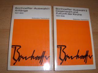 Dudzus (Hrsg.), Otto: Bonhoeffer-Auswahl 1 Anfänge 1927-1933 / Bonhoeffer-Auswahl 2 Gegenwart und Zukunft der Kirche 1933-1936 *. 2 Bände.