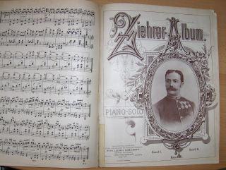 Sämmtliche TÄNZE für Pianoforte solo componirt von FRANZ SCHUBERT / ZIEHER-ALBUM PIANO-SOLO *. 2 Teile in 1 Bd.