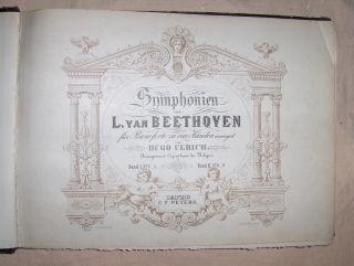 Symphonien von L. (Ludwig) VAN BEETHOVEN für Pianoforte zu 4 Händen arrangirt von Hugo Ulrich. Band I. Symponien N°s 1 bis 5.