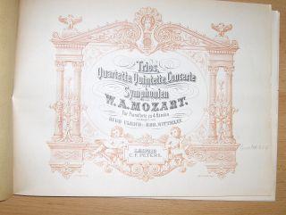 Trios *, Quartette, Quintette, Concerte und Symphonien von W.A. MOZART für Pianoforte zu 4 Händen arrangirt von HUGO ULRICH u. ROB. WITTMANN.