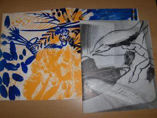 Schwarzbauer (Text 1), Georg F., Dietrich Maus Ursula Peters u. a.: ZWEI HEFTE DIETRICH MAUS MIT OFFSETLITHOGRAPHIEN: 1) DIETRICH MAUS GEMÄLDE 1977-1980 Wuppertal // 2) Dietrich Maus - Bilder von Indianer, Gemälde, Zeichnungen - Von der Heydt-Museum Wu...