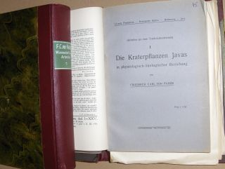 Faber, Friedrich Carl von: Wissenschaftliche Arbeiten* . 2 Privat-Bände (versch. Hefte/Broschüre - ca 50 - untersch.- Format in 2 Mappen-Bücher). Versch. Titeln.
