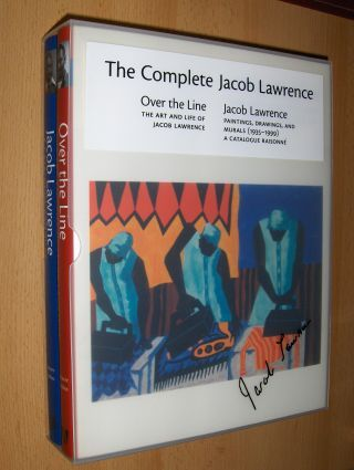 THE COMPLETE JACOB LAWRENCE : MONOGRAPHIE: Over the Line / WERKVERZEICHNIS: A CATALOGUE RAISONNE. 2 Bände in Plexischuber (auf d. Cover d. Schuber im Druck sign.) - 2 Volumes *. THE ART AND LIFE OF JACOB LAWRENCE / PAINTINGS, DRAWINGS, AND MURALS (1935...