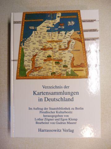 Zögner (Hrsg.), Lothar, Egon Klemp und Gudrun Maurer (Bearbeitet): Verzeichnis der Kartensammlungen in Deutschland *.