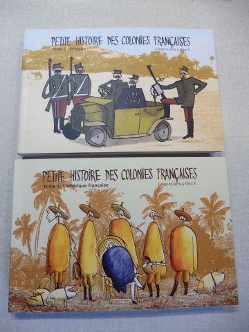 Jarry (Texte), Gregory und Otto T. (dessin): PETITE HISTOIRE DES COLONIES FRANCAISES - Tome 1: l`Amerique francaise / Tome 2: l`Empire. 2 Volumes / 2 Bände.