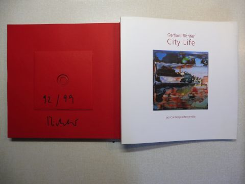 Richter, Gerhard, Carlo Fei (Fotogr.) Jeremy Carden (Translation) u. a.: Gerhard Richter - City Life per Contempoartensemble. VORZUGSAUSGABE MIT CD SIGNIERT / NUMER. 92 / 99 - z. SERIE FIRENZE *. Un ciclo completo di opere originali di Gerhard Richter rea