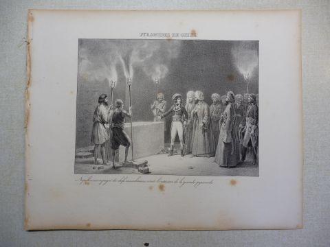 Vogel (?) und R. Fay: NAPOLEON-GRAPHIK: PYRAMIDES DE GIZEH. Napoleon ...