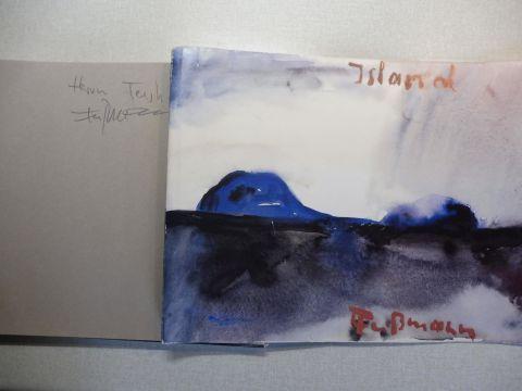 Fußmann, Klaus u. Barbara und Josef Peerlings: Klaus Fußmann - ISLAND 24 Aquarelle + AUTOGRAPH *.