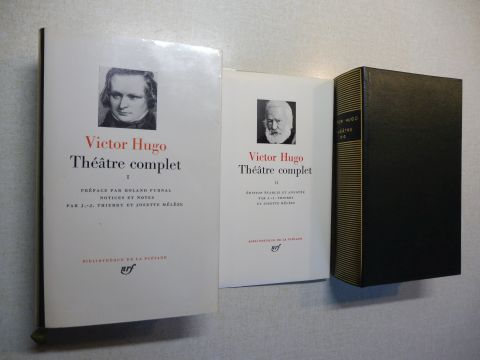 Hugo, Victor, J.-J. Thierry (Preface, Notices et Notes) und Josette Meleze: VICTOR HUGO (Pleiade) - Theatre complet. I - II. 2 Bände / 2 Volumes *.