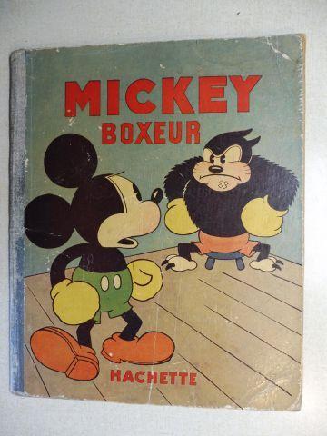 Disney, Walt: MICKEY BOXEUR (ALBUMS MICKEY IV) - Etat abime, mais complet *. ILLUSTRATIONS DE WALT DISNEY.