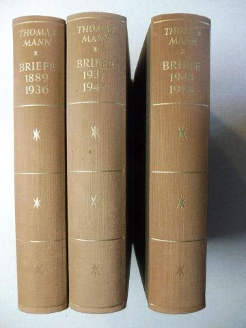 Mann, Thomas: THOMAS MANN BRIEFE 1889-1936 / 1937-1947 / 1948-1955 UND NACHLESE. 3 Bände (siehe Beschreibung) *.