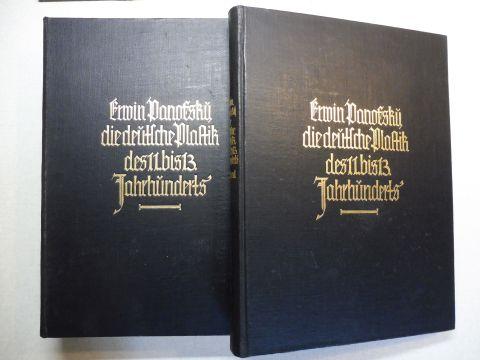 Panofsky, Erwin: DIE DEUTSCHE PLASTIK DES ELFTEN BIS DREIZEHNTEN (11. bis 13.) JAHRHUNDERTS. TEXTBAND / TAFELBAND. 2 Bände. Komplett.