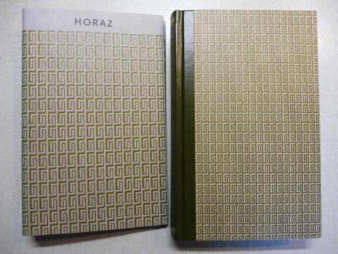Schmidt (Eingel. u. übers.), Ernst A., Herzlieb / Uz (Übers.) und Horaz: HORAZ / Q. HORATIUS FLACCUS - ODEN UND EPODEN *. (Deutsch).