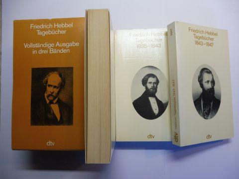 Hebbel, Friedrich und Karl Pörnbacher (Hrsg.): Friedrich Hebbel Tagebücher 1835-1843 / 1843-1847 / 1848-1863. Vollständige Ausgabe in drei Bänden (3 Taschenbücher im Schuber) *.