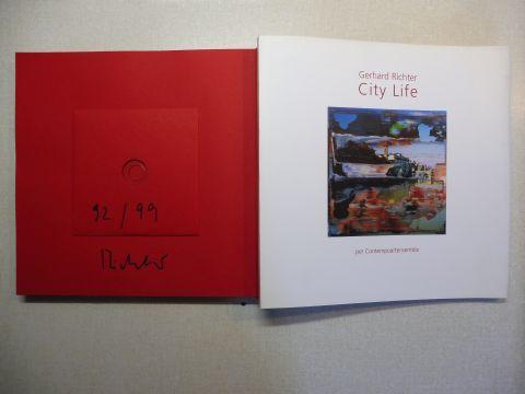 Richter, Gerhard, Carlo Fei (Fotogr.) Jeremy Carden (Translation) u. a.: Gerhard Richter - City Life per Contempoartensemble. BUCH MIT CD SIGNIERT / NUMER. 92 / 99 - z. SERIE FIRENZE *. SONDERAUSGABE ! Un ciclo completo di opere originali di Gerhard Richt