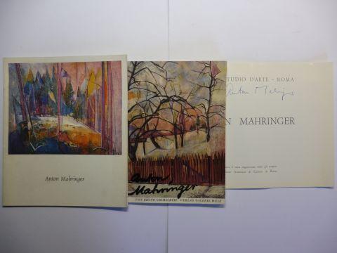 Grimschitz (1), Bruno, Friedrich Welz (2) und Anton Mahringer *: KONVOLUT 3 KATALOGE MIT 2 AUTOGRAPHEN ANTON MAHRINGERS * : 1) ANTON MAHRINGER GALERIE WELZ SALZBURG 1953 // 2) HERMES STUDIO D`ARTE - ROMA Mostra Anton Mahringer (in italienisch.) 1969 // 3)