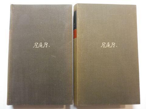 Rilke, Rainer Maria, Marie von Thurn und Taxis und Rudolf Kassner (Geleitwort): Rainer Maria Rilke und Marie von Thurn und Taxis Briefwechsel (Brief-Wechsel) - Erster und zweiter Band. 2 Bände.