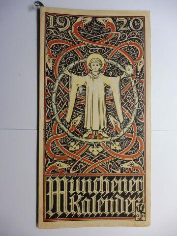 Manz (Verlag), G. J., Otto Hupp (Wappenillustr.) Otto Hupp (Illustr.) u. a.: Münchner Kalender 1920 *.
