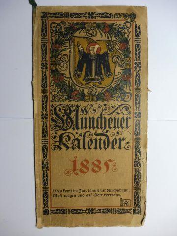 Hupp (Wappenillustr.), Otto und Otto Hupp (Illustr.): Münchner Kalender 1885 *.
