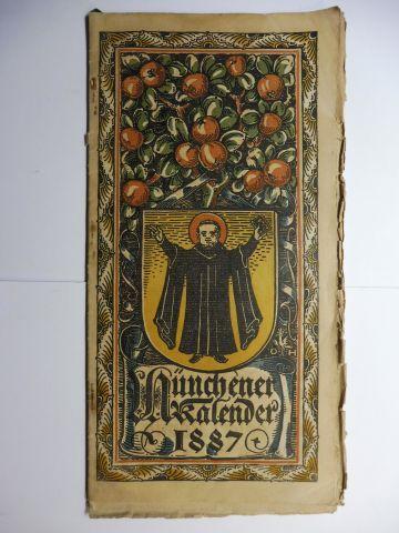 Hupp (Wappenillustr.), Otto und Otto Hupp (Illustr.): Münchner Kalender 1887 *.