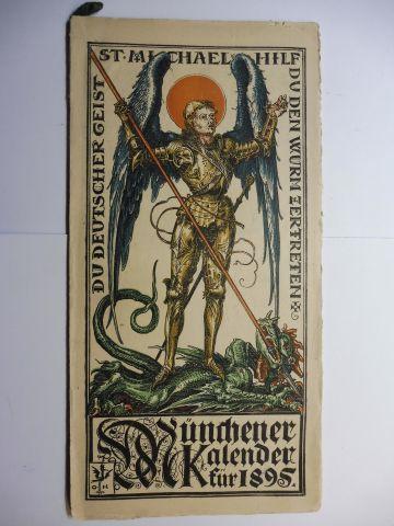 Hupp (Wappenillustr.), Otto und Otto Hupp (Illustr.): Münchner Kalender 1895 *.