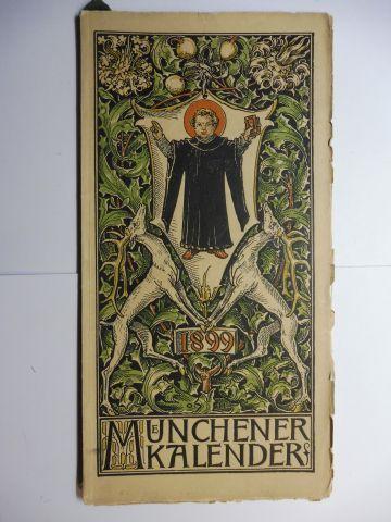 Hupp (Wappenillustr.), Otto und Otto Hupp (Illustr.): Münchner Kalender 1899 *.
