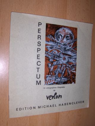 Verlon (Willy Verkauf) *, Andre und Michael Hasenclever: PERSPECTUM - 12 Lithographies Originales de Verlon (ANDRE VERLON - Künstlername von WILLY VERKAUF) *.