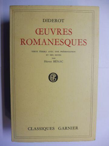 Diderot, Denis und Henri Benac (Texte-Presentation-Notes): OEUVRES ROMANESQUES en un VOLUME *.
